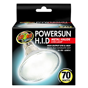 ZM Powersun HID Metal Halide Lamp 70W PUV-15E