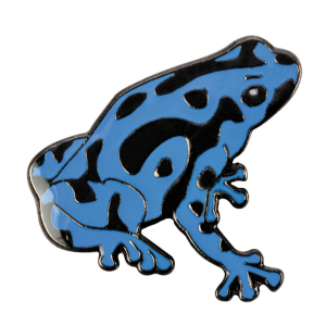 Blue Bug Pin Badge, Pois.Dart Frog, blue