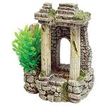 AQ Ancient Columns c/w Plant 10.5x7x13.5cm AQ61493