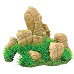 AQ Aquarium Rock with Grass 24 x 20 x 18cm AQ61545