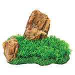 AQ Aquarium Rock with Grass 27 x 18 x 16cm AQ61608
