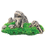 AQ Aquarium Rock with Grass 33 x 18 x 15cm AQ61609