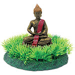 AQ Buddha Statue on Grass 12 x 13 x 10cm AQ96287