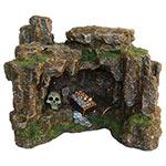 AQ Cave wth Skull &Treasure 22.5x17.5x17cm AQ28293