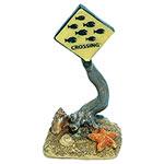 AQ Fish Crossing Sign 5 x 4 x 10cm AQ96109