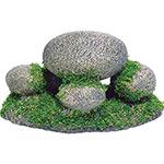 AQ Pebbles with Moss 13 x 8 x 7cm AQ62581