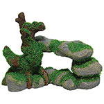 AQ Pebbles with Root and Moss 18x9x13cm AQ62591