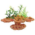 AQ Platform Rock with Plants 16x12.5x15cm AQ12657