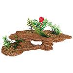 AQ Platform Rock with Plants 28.5x13x12cm AQ28127