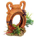 AQ Pot with Airstone & Plants 12x7x13.5cm AQ28665