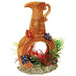 AQ Pot with Airstone & Plants 12.5x9x19cm AQ28668
