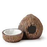 ET Tiki Coconut Hide & Water Dish, PT3159