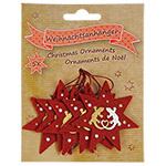 Blue Bug Felt Christmas Ornaments -Geckos, Set 5
