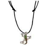 Blue Bug Mood Necklace, Gecko