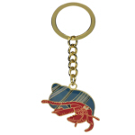 Blue Bug Metal Keyring, Hermit Crab