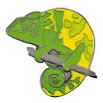 Blue Bug Pin Badge, Chameleon