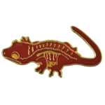 Blue Bug Pin Badge, Crested Gecko