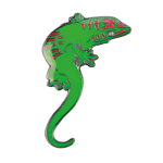 Blue Bug Pin Badge, Day Gecko