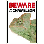 Beware Sign: Chameleon