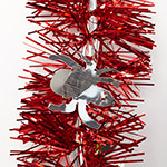 Tinsel Spider 2m red / silver spiders