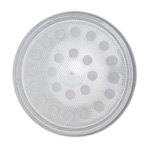 Round Deli Cup LID ONLY Poly Fibre Vent Holes x 50