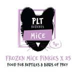 PLT Frozen Mice Pinkies 1g+ 25 Pack