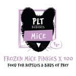 PLT Frozen Mice Pinkies 1g+ 100 Pack