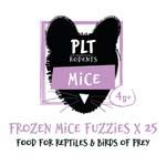 PLT Frozen Mice Fuzzies 4g+ 25 Pack