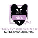 PLT Frozen Mice Small/Medium 15g+ 10 pack