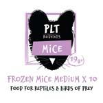 PLT Frozen Mice Medium 19g+ 10 Pack