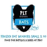 PLT Frozen Rat Weaner Small 30g+ 10 Pack