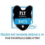 PLT Frozen Rat Weaner Medium 50g+ 10 pack