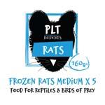 PLT Frozen Rat Medium 160g+ 5 Pack
