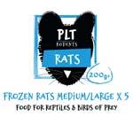 PLT Frozen Rat Medium/Large 200g+ 5 Pack