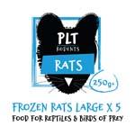 PLT Frozen Rat Large 250g+ 5 Pack